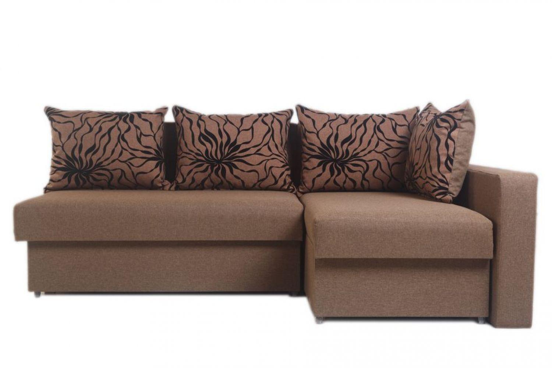 Угловые диваны - Диван угловой Монарх с одним подлокотником №56 ткань Platinum фото 1 - ДиванКиев