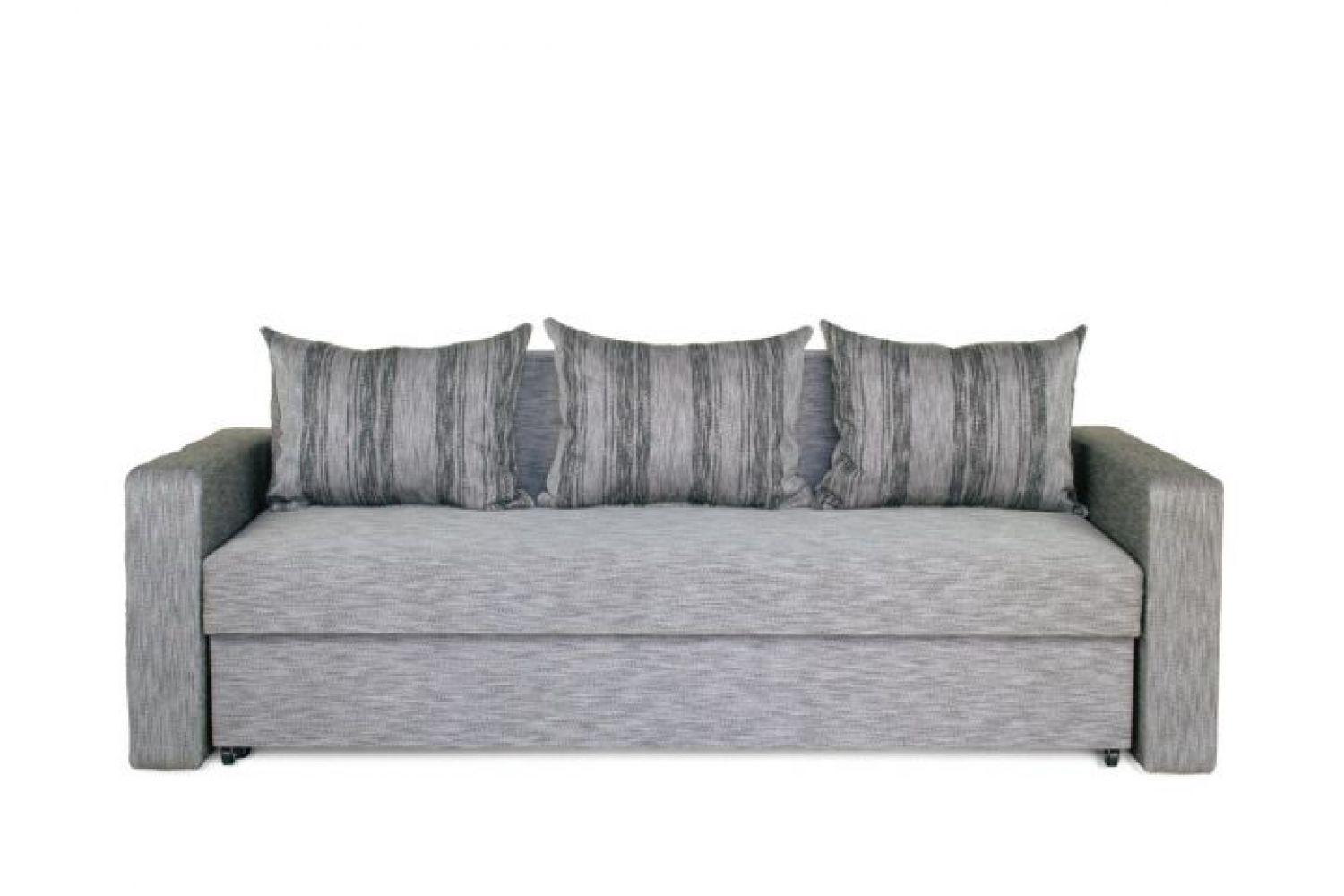 Прямые диваны - Президент 3 Ткань Silver фото 1 - ДиванКиев