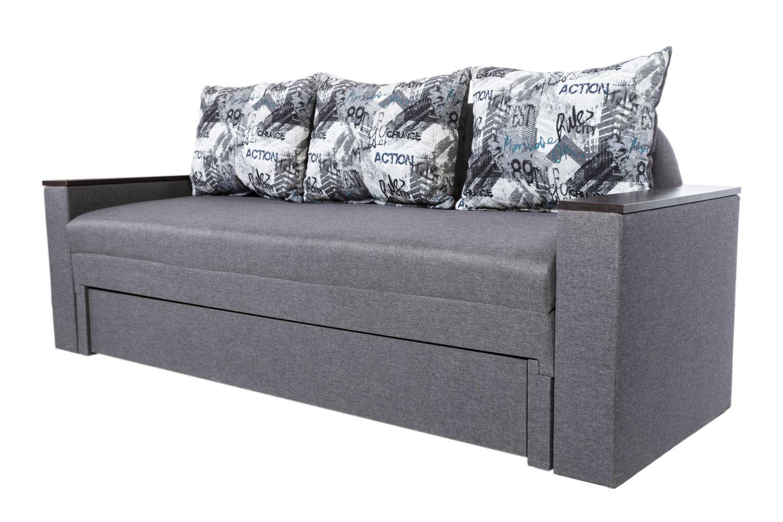 Конструктор диванов - Диван прямой Монарх с открывными подлокотниками  фото 3 - ДиванКиев